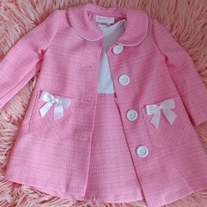 2 Piece Dress/Jacket Set, Girls 18 MO